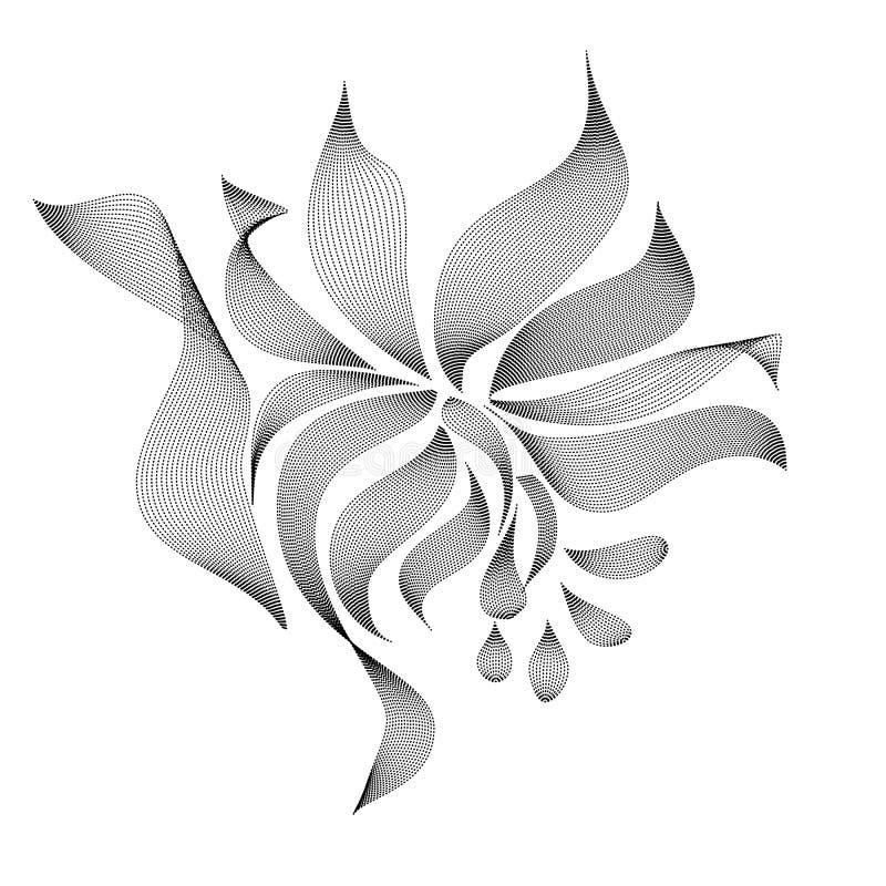 Silueta de la flor, icono, arte linear, flor común en el fondo blanco, ejemplo del vector, EPS 10 stock de ilustración