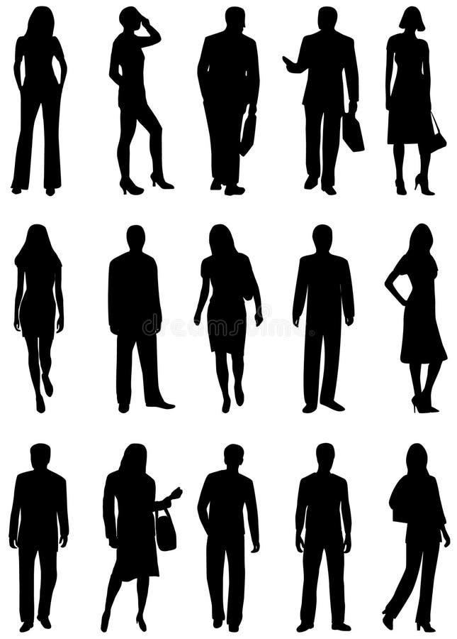 Silueta de la gente imagen de archivo