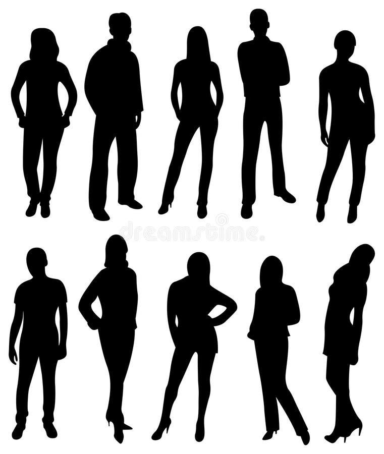 Silueta de la gente del vector ilustración del vector