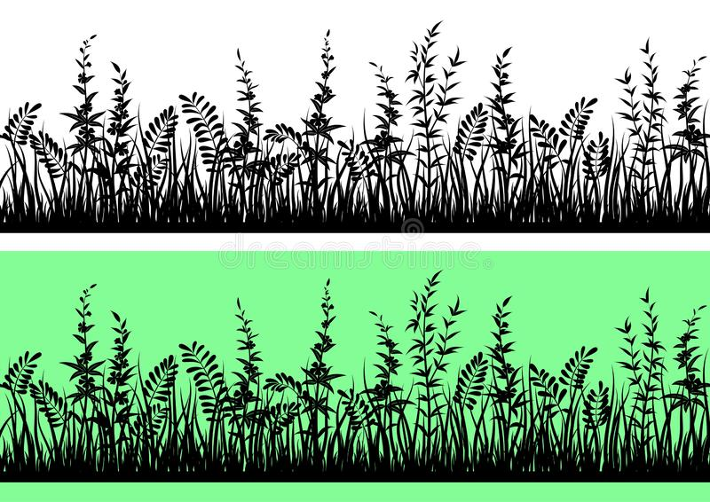 Silueta de la hierba, incons?til ilustración del vector