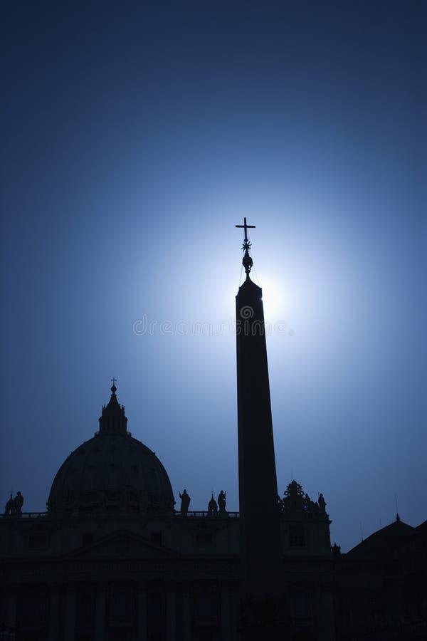 Silueta de la iglesia en Roma, Italia. foto de archivo libre de regalías