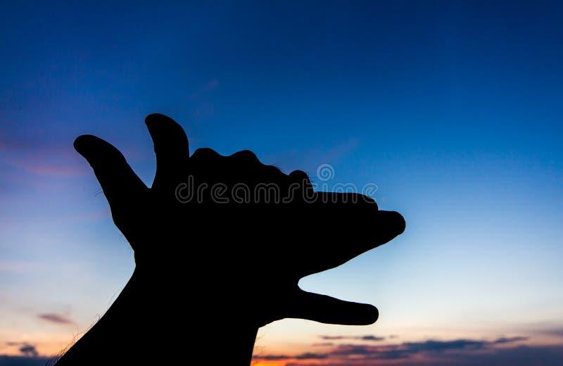 Download Silueta De La Mano De La Forma Del Perro Foto de archivo - Imagen de gesto, siendo: 42441716