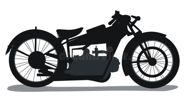 Silueta De La Moto Foto de archivo