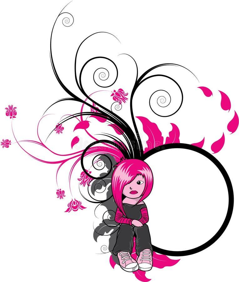 Silueta de la muchacha de Emo libre illustration