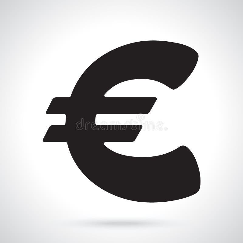 Silueta de la muestra euro stock de ilustración