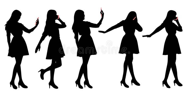 Silueta de la mujer ilustración del vector