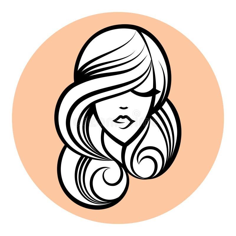 Silueta de la mujer, dibujo de la cara de las mujeres Concepto de diseño abstracto libre illustration