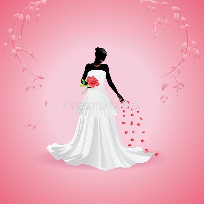 Silueta de la novia ilustración del vector
