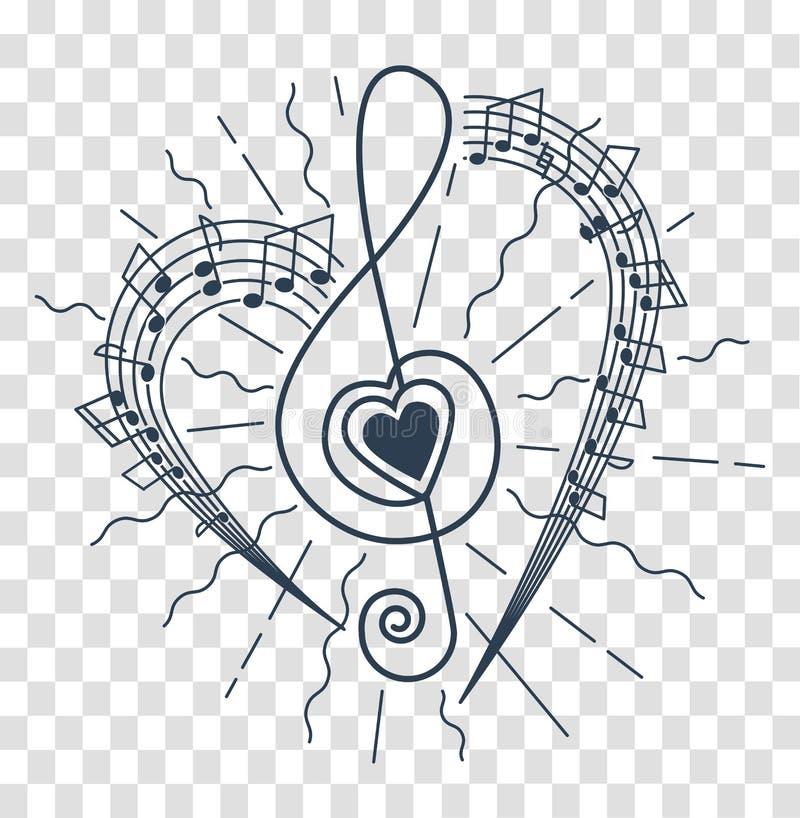Silueta de la representación musical libre illustration