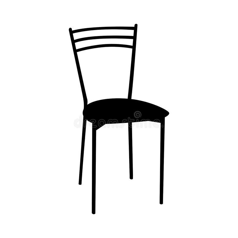 Silueta de la silla ilustración del vector