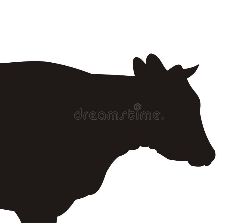Silueta de la vaca libre illustration