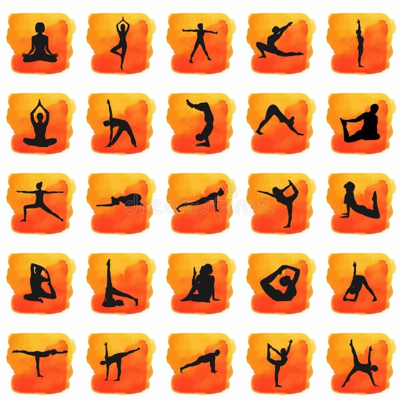 Silueta de la yoga imagen de archivo libre de regalías