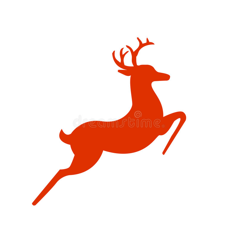 Silueta de los ciervos de la rienda de Santas