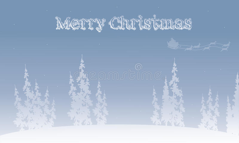 Silueta de los fondos de la Navidad del trineo de santa stock de ilustración