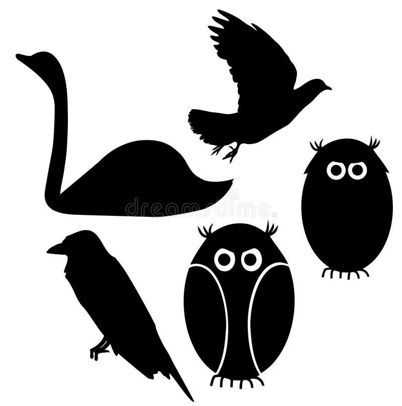 Silueta De Los Pájaros Fotos de archivo libres de regalías