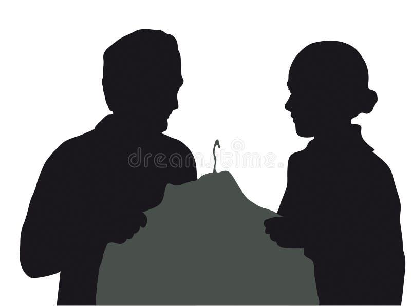 Silueta de los pares libre illustration
