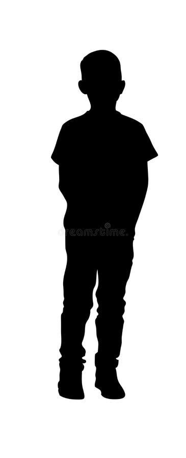 Silueta de los soportes de un muchacho ilustración del vector