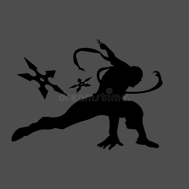 Silueta de Ninja fotos de archivo