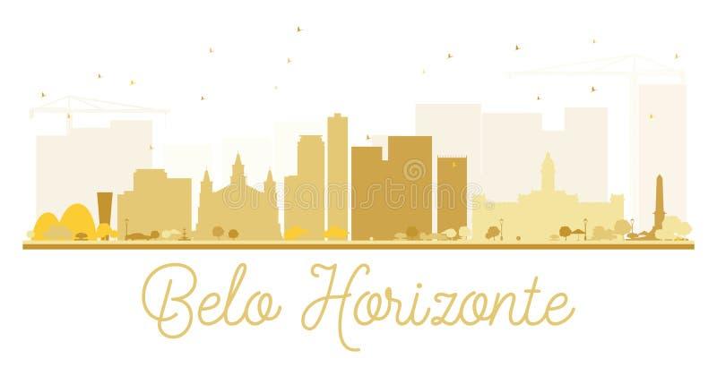 Silueta de oro del horizonte de la ciudad de Belo Horizonte libre illustration