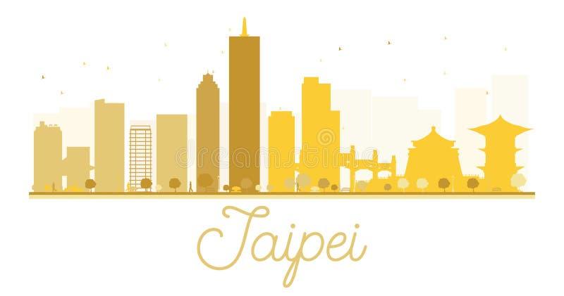Silueta de oro del horizonte de la ciudad de Taipei libre illustration