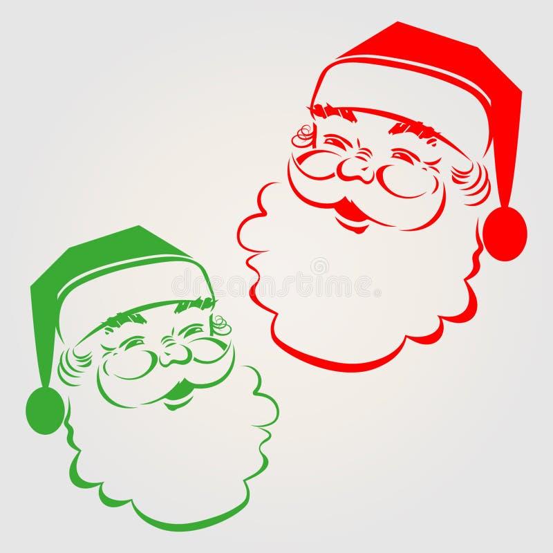 Silueta de Papá Noel stock de ilustración