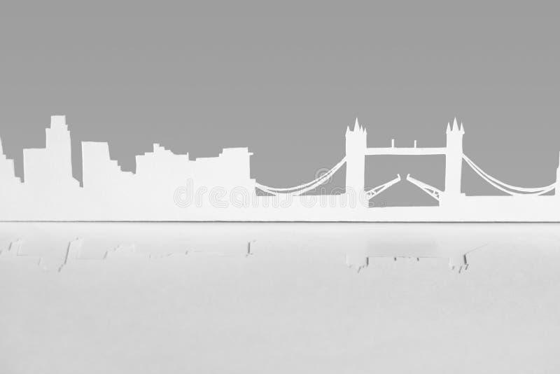 Silueta de papel del recorte de la ciudad de Londres, Inglaterra imágenes de archivo libres de regalías