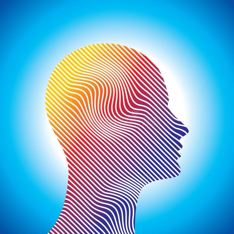 Silueta de pensamiento del hombre con pensamiento libre illustration