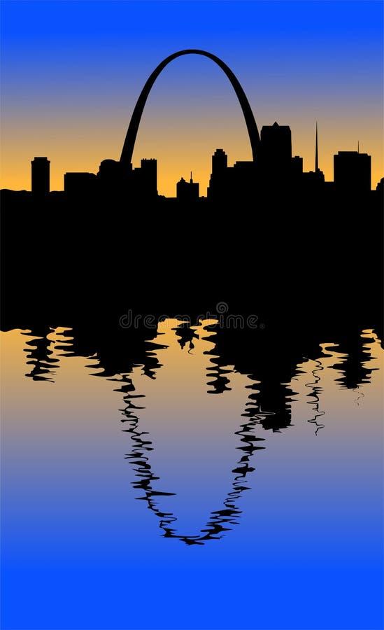 Silueta de St. Louis ilustración del vector