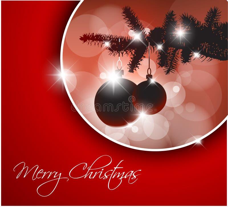 silueta de un árbol de navidad ilustración del vector