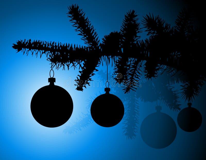Silueta de un árbol de navidad libre illustration