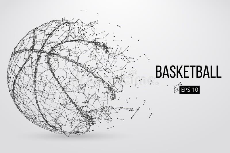 Silueta de una bola del baloncesto Ilustración del vector ilustración del vector