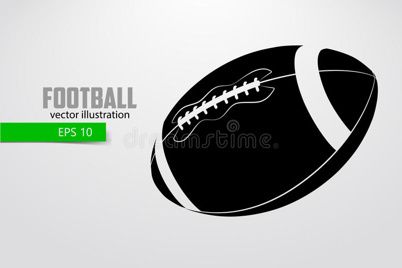 Silueta de una bola del fútbol ilustración del vector