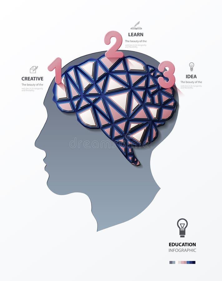 Silueta de una cabeza humana stock de ilustración