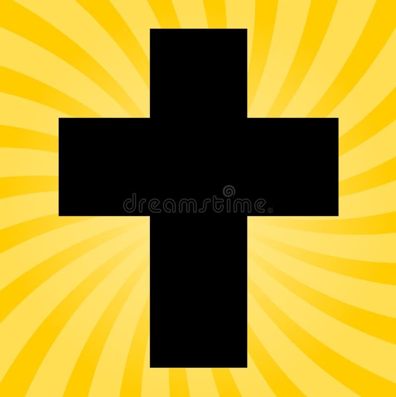 Silueta de una cruz - ejemplo ilustración del vector