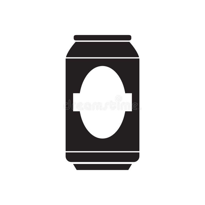 Silueta de una lata de cerveza ilustración del vector