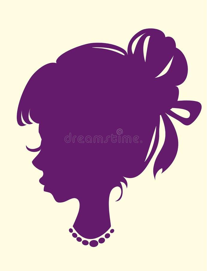 Silueta de una pista femenina libre illustration