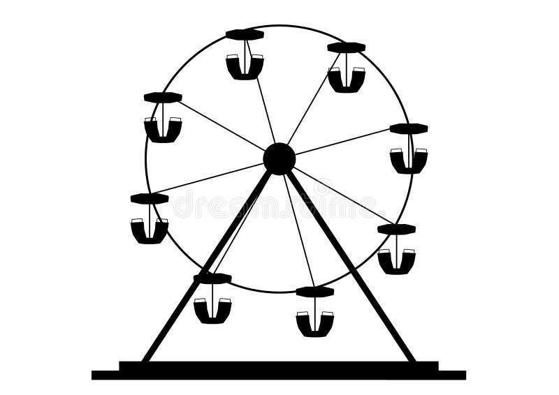 Silueta de una rueda de ferris libre illustration