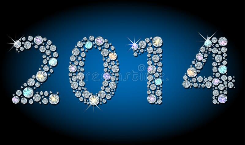 año-número 2014 ilustración del vector