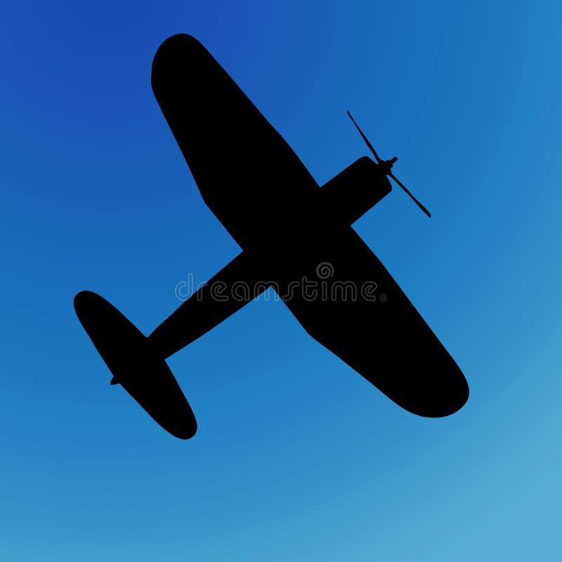 Silueta del aeroplano ilustración del vector