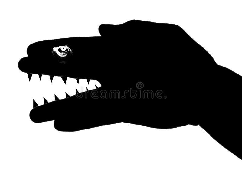Silueta del animal salvaje stock de ilustración