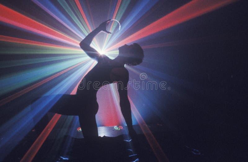 Silueta del bailarín imagen de archivo libre de regalías