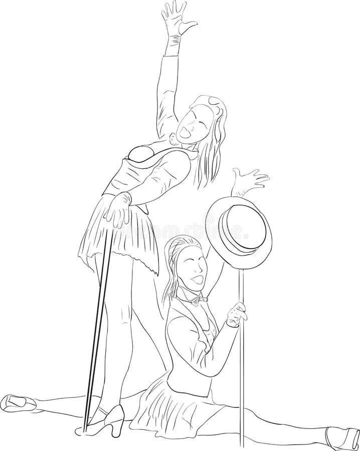 Download Silueta del bailarín ilustración del vector. Ilustración de diversión - 41906987