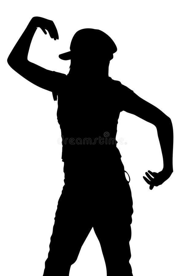Silueta del baile ilustración del vector