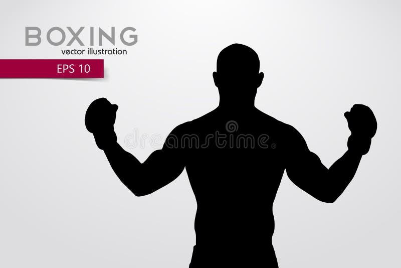 Silueta del boxeo boxeo Ilustración del vector stock de ilustración