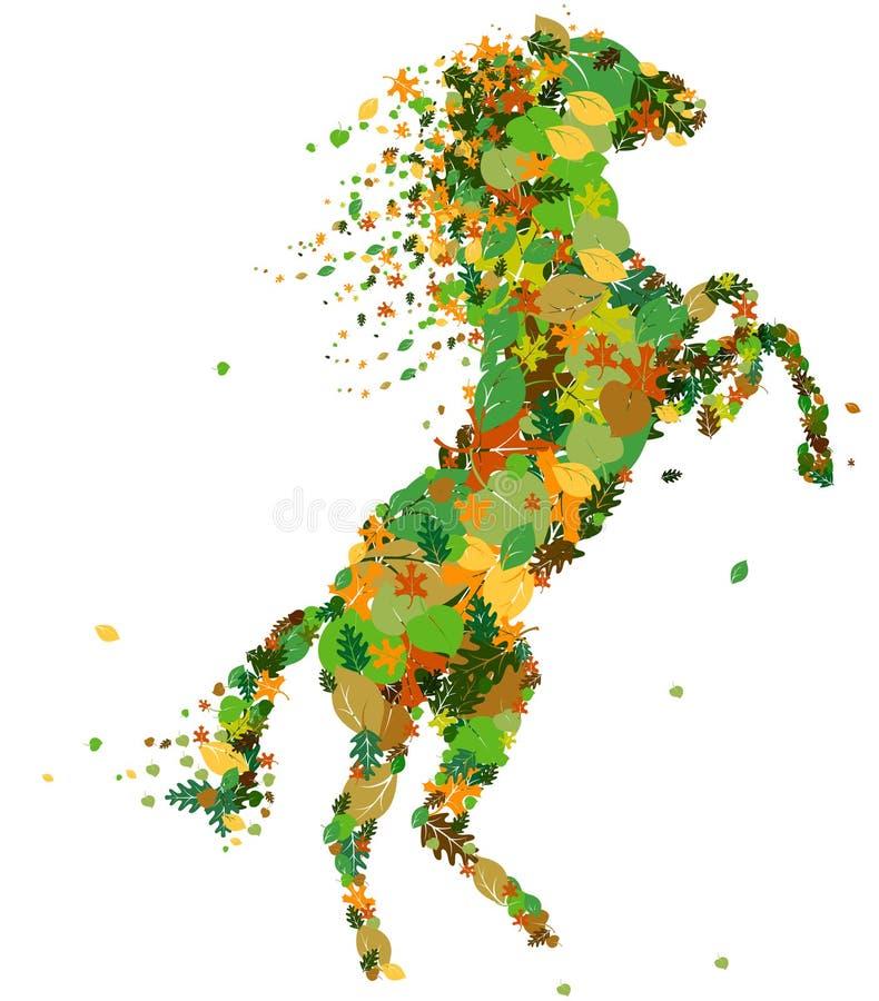 Silueta del caballo. stock de ilustración