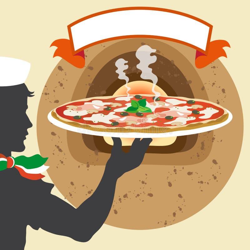 Silueta del camarero libre illustration