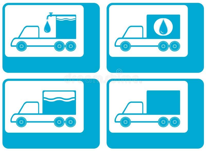 Silueta del camión - agua carretero del cargo libre illustration