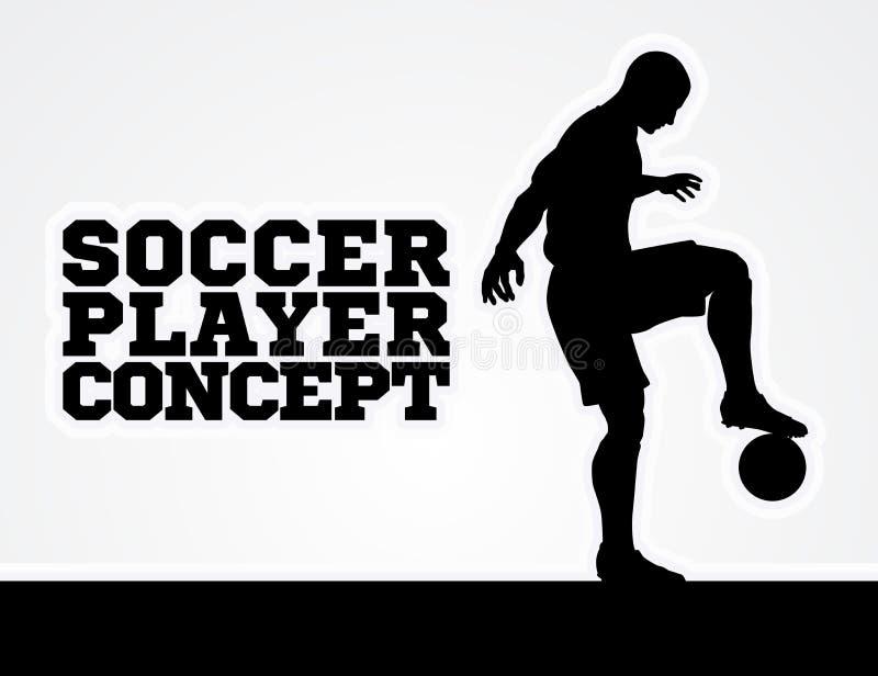 Silueta del concepto del futbolista del fútbol libre illustration
