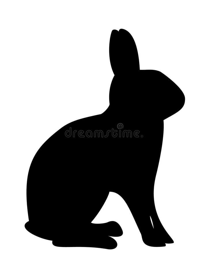 Silueta del conejo stock de ilustración