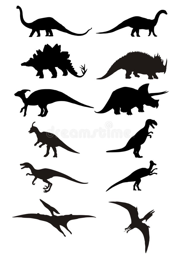 Silueta del dinosaurio libre illustration